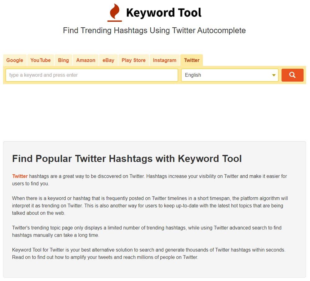 twitter hastag keyword tool